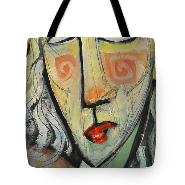 Woman In Red Hat Tote Bag by Tim Nyberg