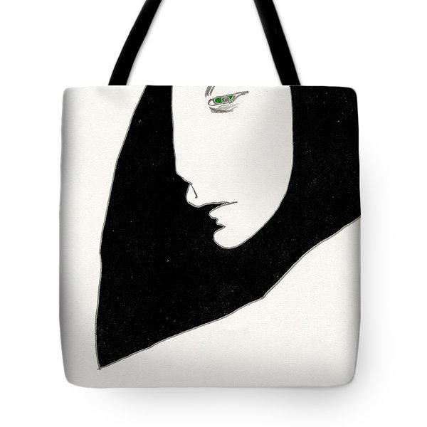 Woman In Shadows Tote Bag