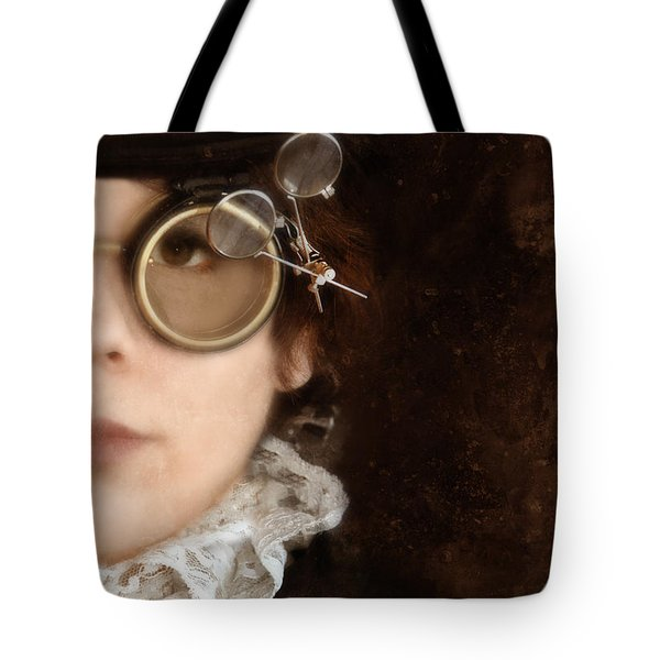 Woman In Steampunk Clothing  Tote Bag by Jill Battaglia