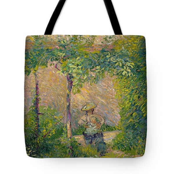 Woman In The Garden Tote Bag by Hippolyte Petitjean