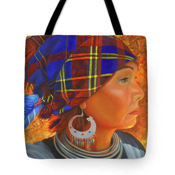 Woman In The Shadow Tote Bag