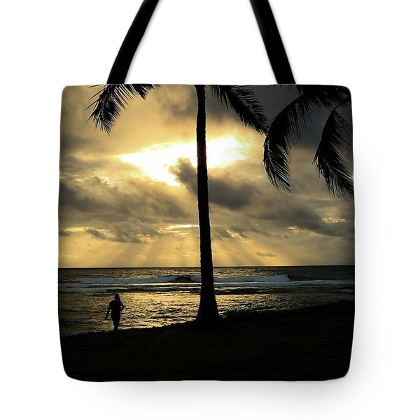 Woman In The Sunset  Tote Bag
