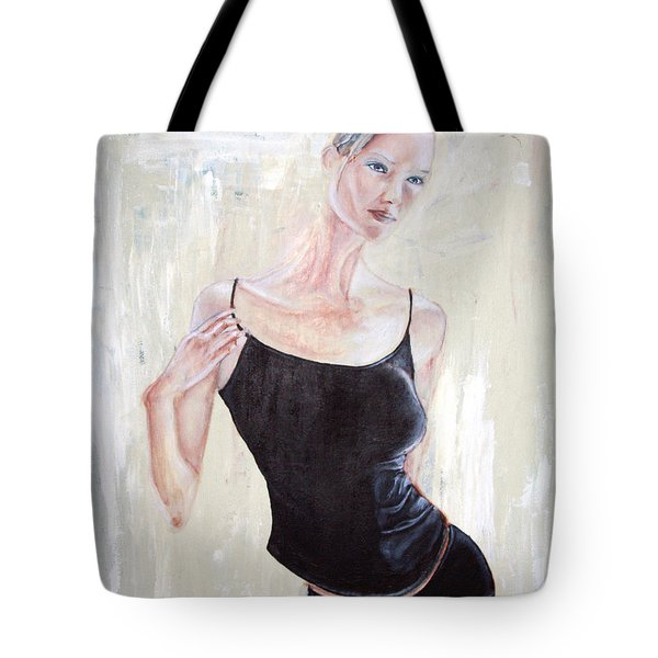 Tote Bag featuring the painting Woman by Keith A Link
