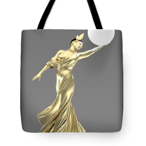 Woman Lamp Modernist Style Tote Bag