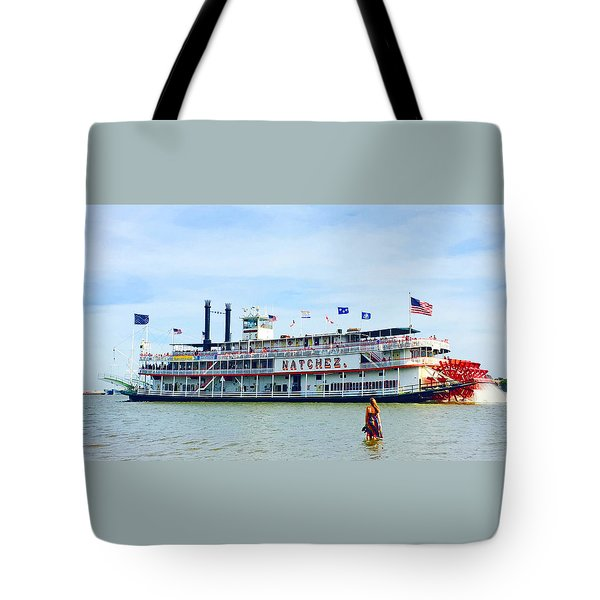 Woman Meets Natchez Tote Bag