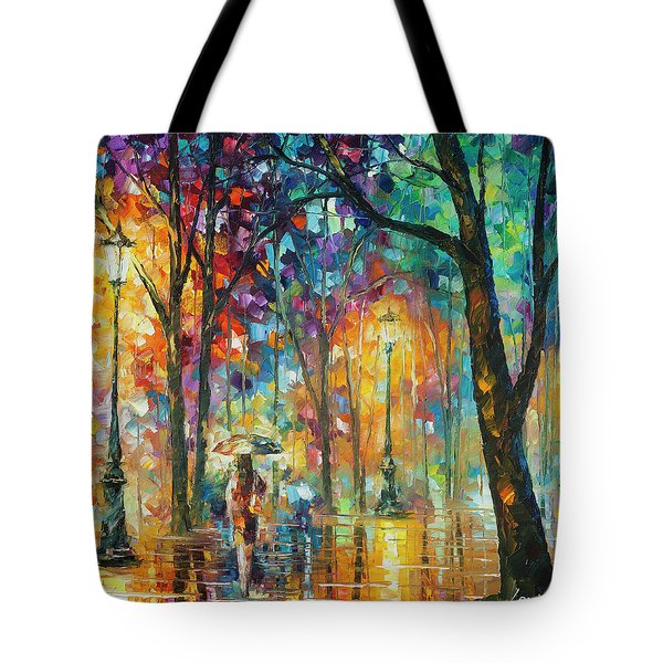 Woman Of The Night Tote Bag by Leonid Afremov