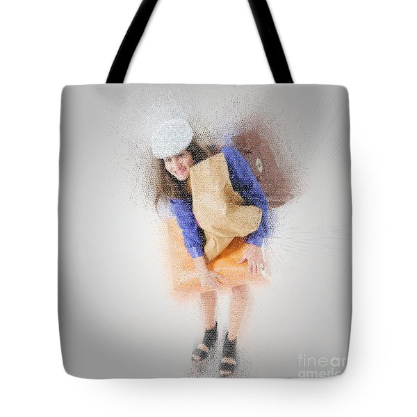 Woman Out Shopping A2 Tote Bag