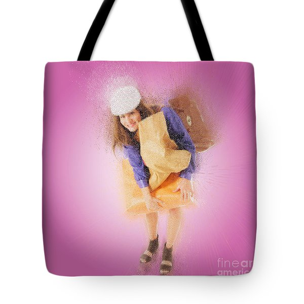 Woman Out Shopping A3 Tote Bag