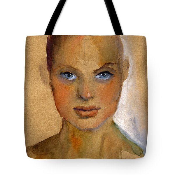 Woman Portrait Sketch Tote Bag
