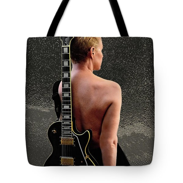 Woman Rock An Roll Star Tote Bag