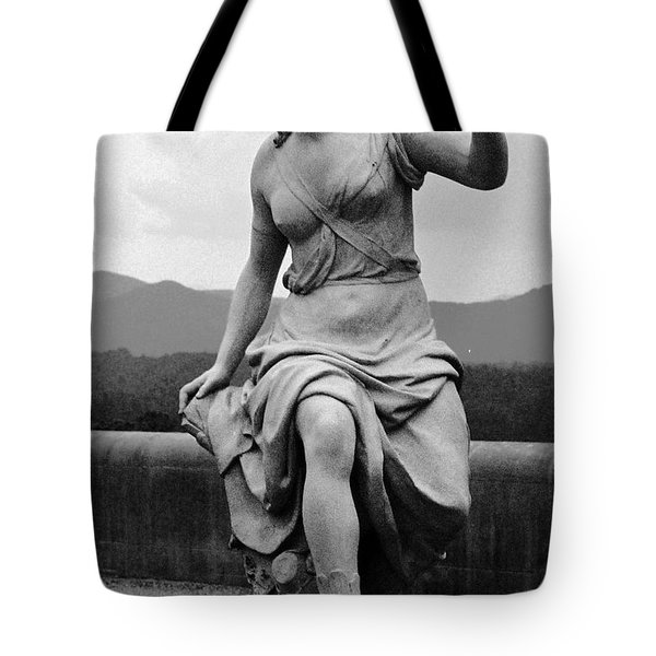 Tote Bag featuring the sculpture Woman Sculpture Nc by Eric  Schiabor