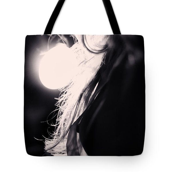 Woman Silhouette Tote Bag by Stelios Kleanthous