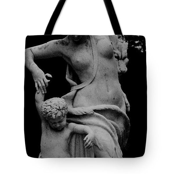 Tote Bag featuring the painting Woman Statue by Eric  Schiabor