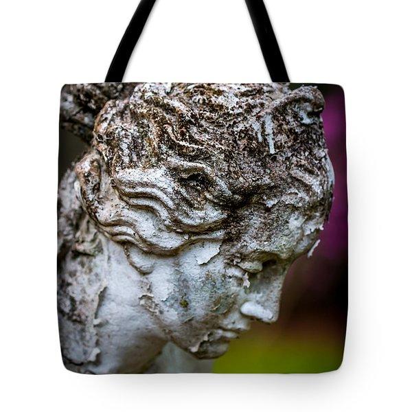 Woman Statue Head Tote Bag