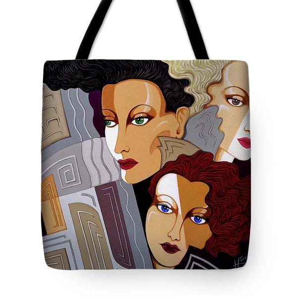 Woman Times Three Tote Bag