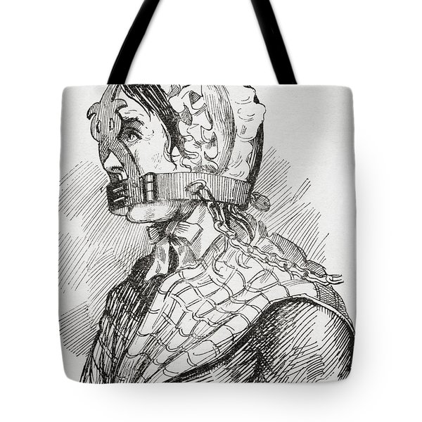 Woman Wearing A Derbyshire Brank Or Tote Bag