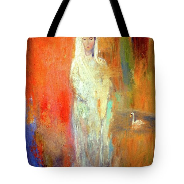 Woman With A Swan Tote Bag