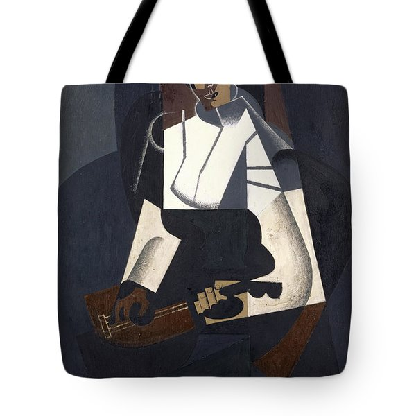 Woman With Mandolin Tote Bag