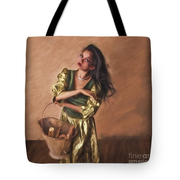 Woman With Pail  ... Tote Bag by Chuck Caramella