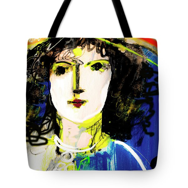 Woman With Party Hat Tote Bag
