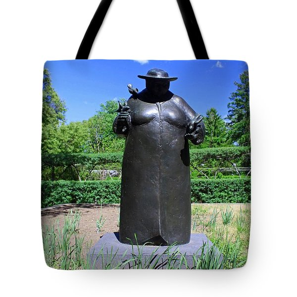 Woman With The Birds Tote Bag