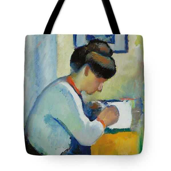 Woman Writing Tote Bag