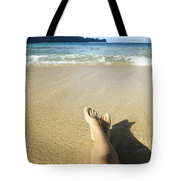 Womans Legs Relaxing Tote Bag by Kicka Witte - Printscapes