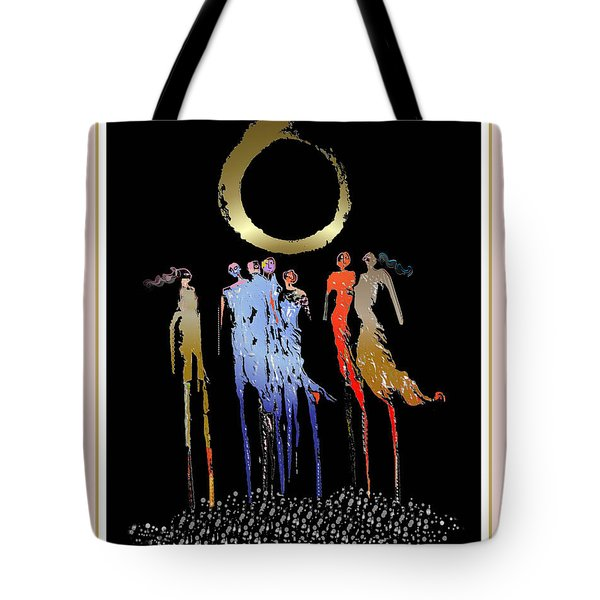 Women Chanting - Enso  Tote Bag