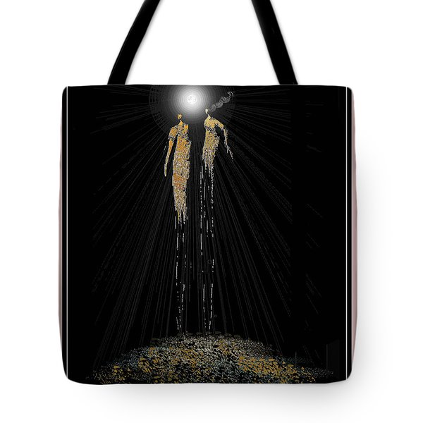 Women Chanting - Full Moon On The Mountain Tote Bag