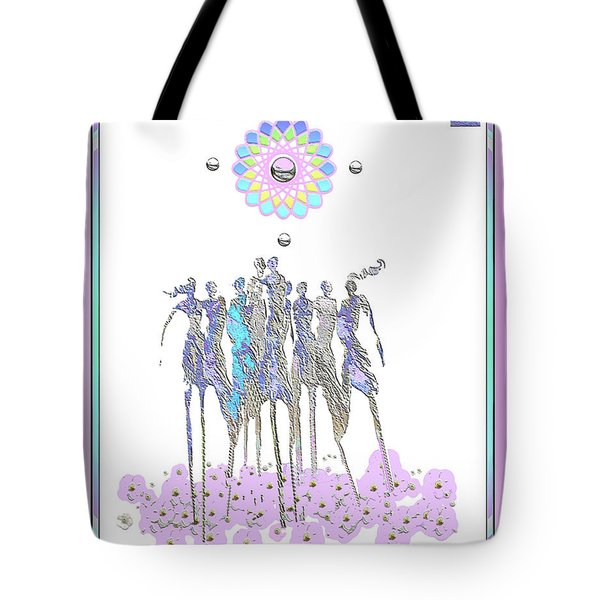 Women Chanting - Pink Full Moon 2017 Tote Bag