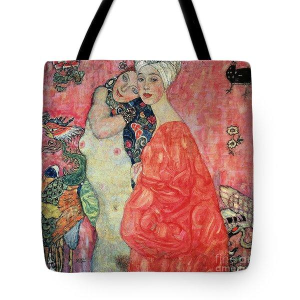 Women Friends Tote Bag by Gustav Klimt