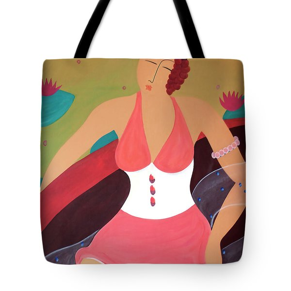 Women In A Boat Tote Bag