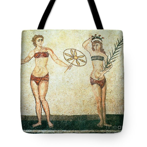 Women In Bikinis From The Room Of The Ten Dancing Girls Tote Bag by Roman School