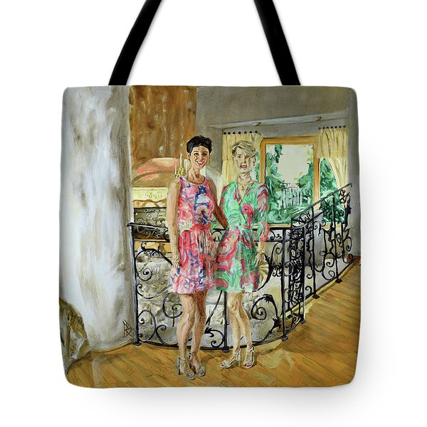 Tote Bag featuring the painting Women In Sunroom by Ryan Demaree
