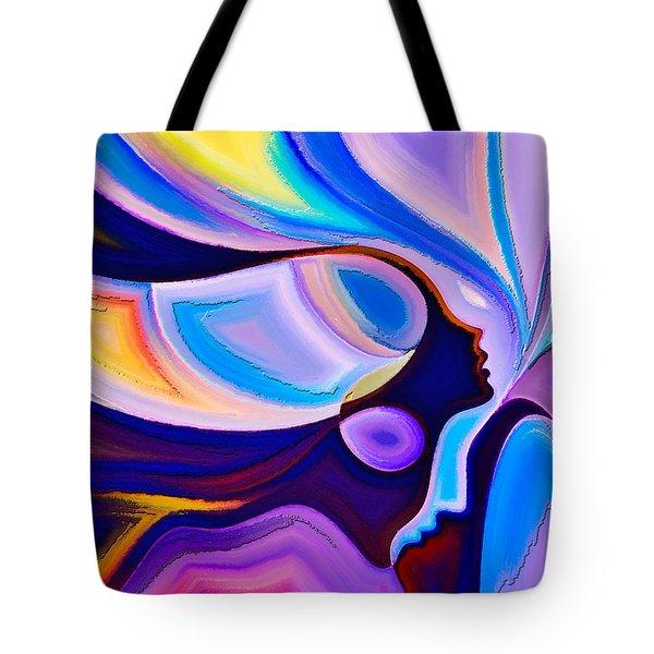 Tote Bag featuring the digital art Women by Karen Showell