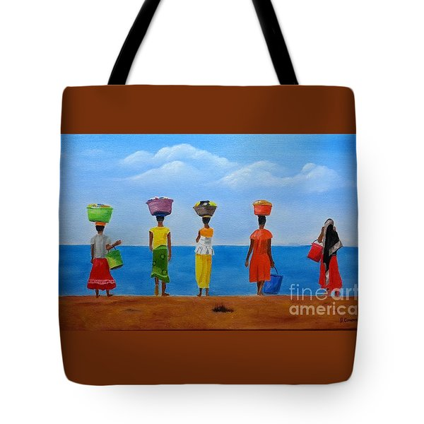 Women Of Africa  Tote Bag by Bev Conover