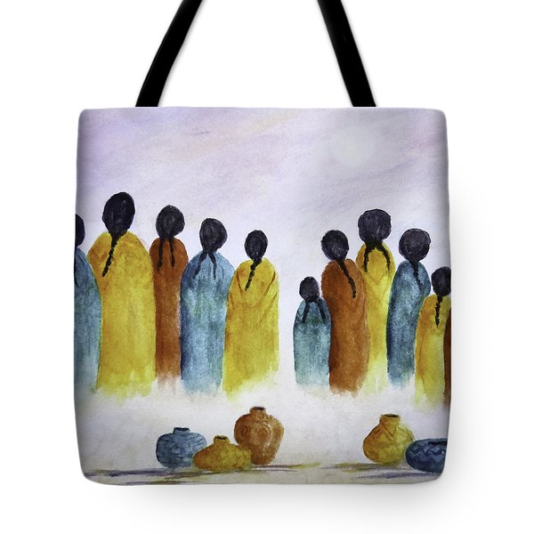 Women Waiting Tote Bag