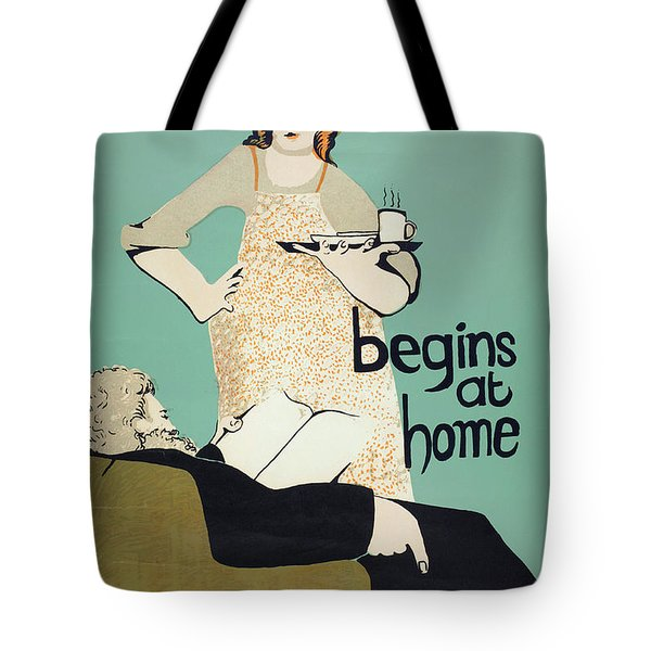 Tote Bag featuring the painting Women's Rights Poster by Granger