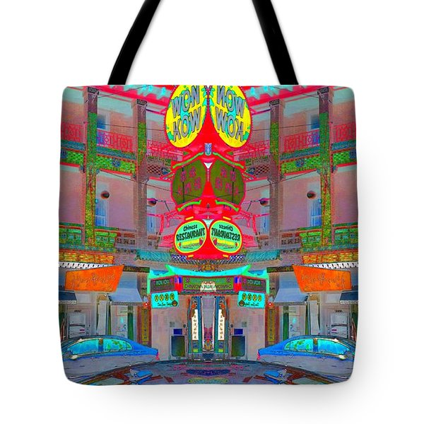 Tote Bag featuring the photograph Won Kow, Wow 1 by Marianne Dow