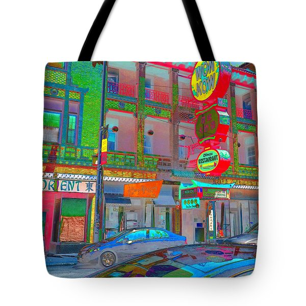 Tote Bag featuring the photograph Won Kow, Wow 2 by Marianne Dow