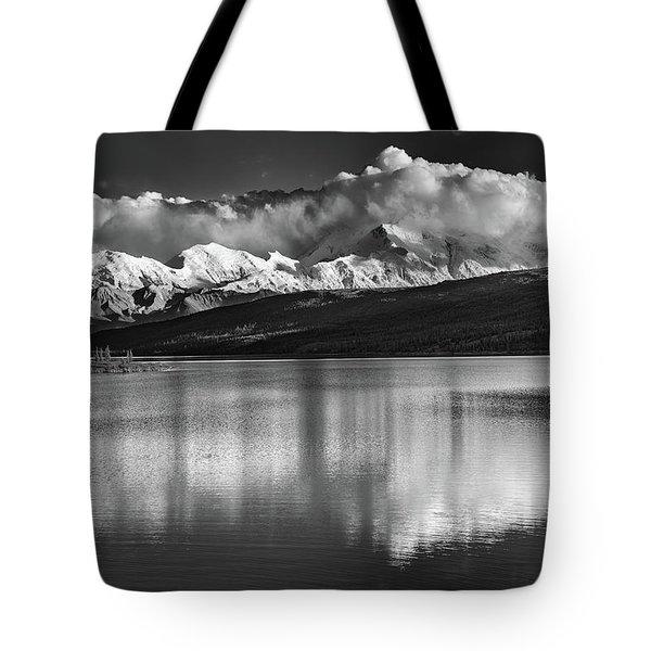 Wonder Lake In Black And White Tote Bag