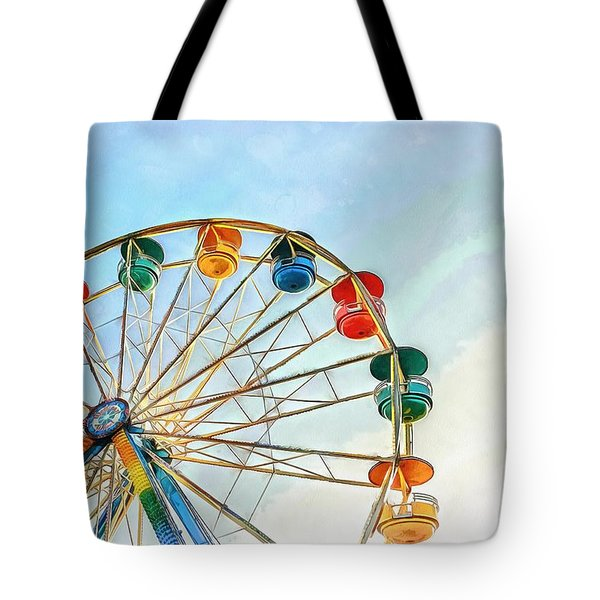 Tote Bag featuring the painting Wonder Wheel by Edward Fielding