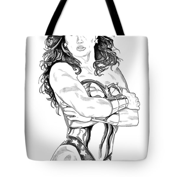 Wonder Woman 1 Tote Bag by Bill Richards