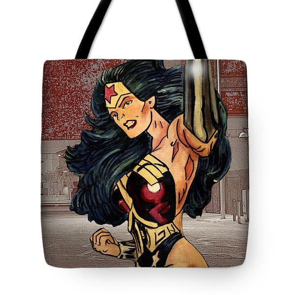 Wonder Woman Tote Bag by Bill Richards