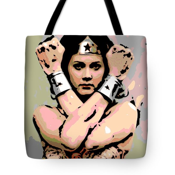 Wonder Woman Tote Bag by George Pedro