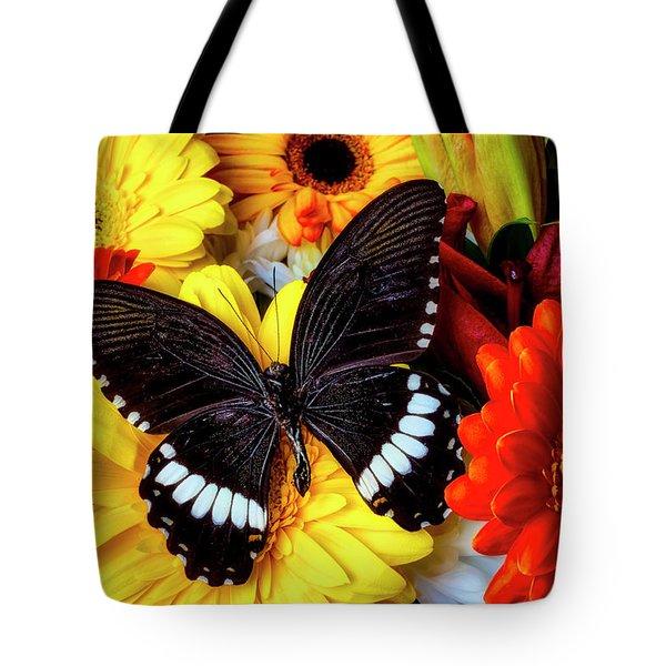 Wonderful Black Butterfly Tote Bag