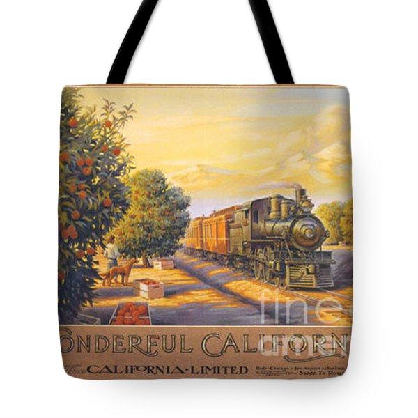 Wonderful California Tote Bag by Nostalgic Prints