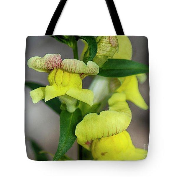 Wonderful Nature - Yellow Antirrhinum Tote Bag