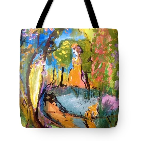 Wondering In The Garden Tote Bag