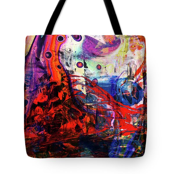 Wonderland - Colorful Abstract Art Painting Tote Bag